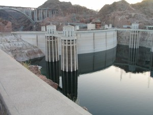 Hoover Dam With New Bridge In The Background